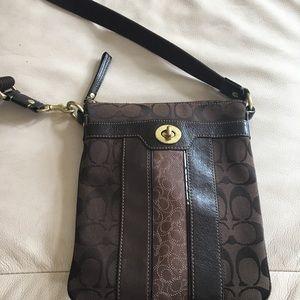 Authentic Coach Crossbody bag, Signature Jacquard